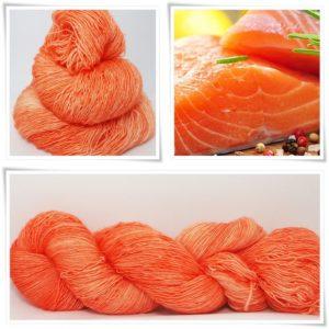 Salmon Merino-Lace von Wollelfe