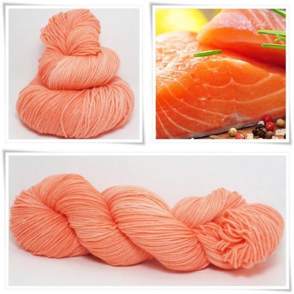 Salmon Sockenwolle 4-fach von Wollelfe