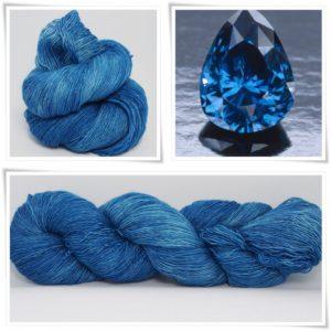 Sapphire Blue Merino-Lace von Wollelfe