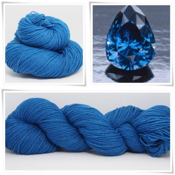 Sapphire Blue Merino-Sockenwolle 4-fach von Wollelfe