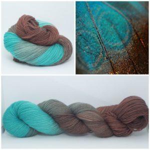 Schokominze Sockenwolle 4-fach von Wollelfe