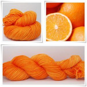 Soft Orange Sockenwolle 4-fach von Wollelfe