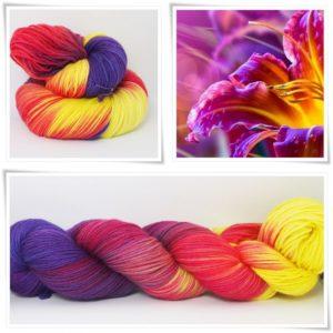 Sommerzauber Sockenwolle 4-fach von Wollelfe