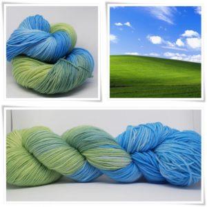 Wiese und Himmel Sockenwolle 4-fach von Wollelfe