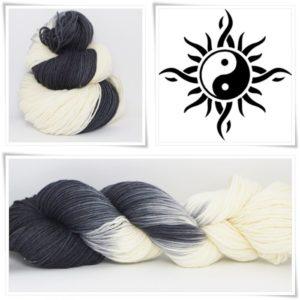 Yin Yang Sockenwolle 4-fach von Wollelfe