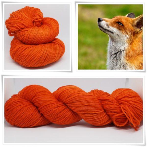Fox orange Sockenwolle 4-fach von Wollelfe