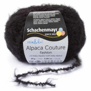 Alpaca Couture 00099 Schwarz von Schachenmayr