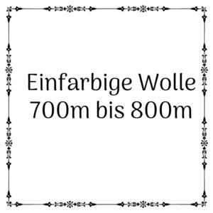 einfarbige Wolle 700m – 800m je 100g