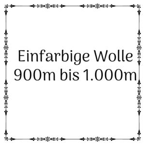 einfarbige Wolle 900m – 1.000m je 100g