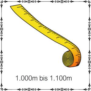 1000m - 1100m je 100g