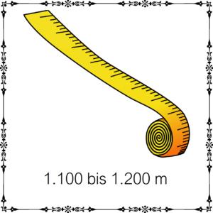 1100m - 1200m je 100g