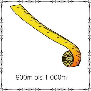 900m – 1.000m je 100g