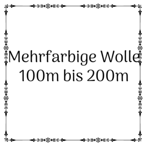 mehrfarbige Wolle 100m-200m