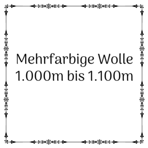 mehrfarbige Wolle 1.000m – 1.100m je 100g