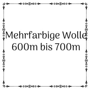 mehrfarbige Wolle 600m-700m
