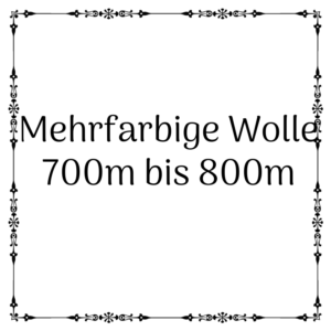 mehrfarbige Wolle 700m – 800m je 100g