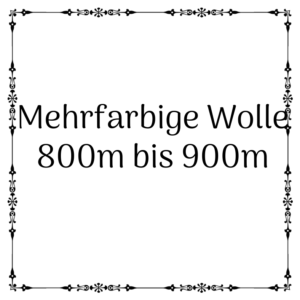 mehrfarbige Wolle 800m – 900m je 100g