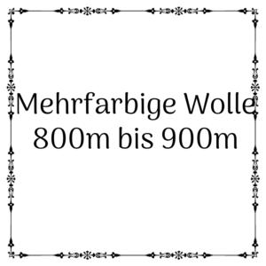mehrfarbige Wolle 800m – 900m je 100g