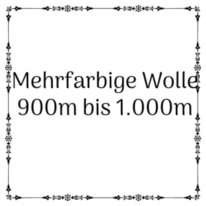 mehrfarbige Wolle 900m – 1.000m je 100g