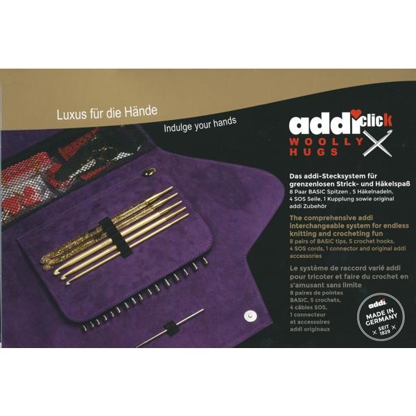 addi-click BASIC Stecksystem Stricknadeln Stricknadel-Set mit Etui stricken