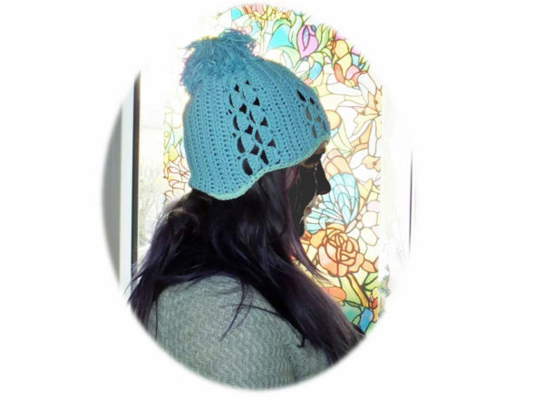Häkelanleitung Mütze Eisblau von Nicole Berlinger berlidesign