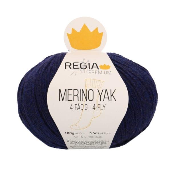 Regia PREMIUM Merino Yak 07520 königsblau meliert von Schachenmayr