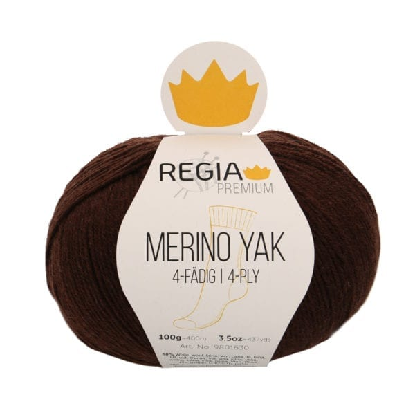 Regia PREMIUM Merino Yak 07522 schokolade meliert von Schachenmayr